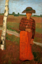 Paula Modersohn-Becker - Country Woman by Birch Tree