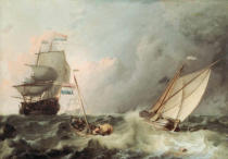 Ludolf Backhuysen - Shipping on a choppy Sea