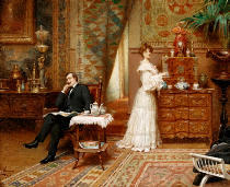 Adrien Henri Tanoux - Taking Tea