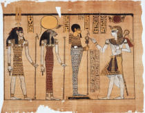 AKG Anonymous - Harris Papyrus, representation of the re