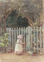 Rose Maynard Barton - At the Garden Gate