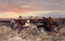 Nikolai Jegorowitsch Swertschkow - Sleigh ride, followed by wolves