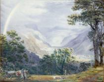 William Turner of Oxford - The Vale of Ffestiniogg, as seen from near Tany-Bwlch Hall, Merionetshire, a Storm clearing off