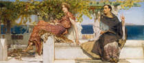 Sir Lawrence Alma-Tadema - The Conversion of Paula by Saint Jerome