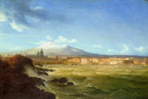 Thomas Fearnley - A View of Mount Etna from the Sea