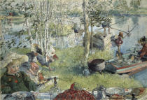 Carl Larsson - Catching Crayfish