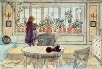Carl Larsson - Larsson / The Flowers at the Window