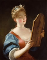 Jean Raoux - A Young Girl Looking in a Mirror