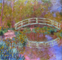 Claude Monet - Japanese bridge in Monets garden, 1895/1900