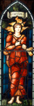 Sir Edward Coley Burne-Jones - Caritas-A Stained Glass Window