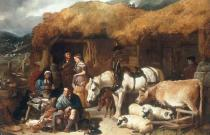 John Frederick Herring - A Gamekeeper's Shack in the Highlands