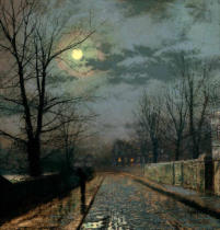 John Atkinson Grimshaw - Lane in Cheshire