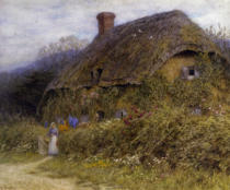 Helen Allingham - Woman by a Cottage Gate