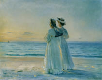 Michael Peter Ancher - Two Women on the Beach at Skagen
