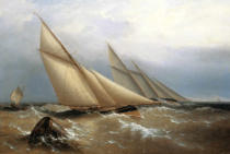 Admiral Captain Richard Brydges Beechey - A Schooner and Cutter Yacht rounding a Buoy