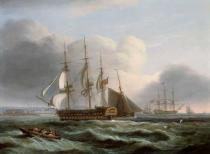 Thomas Luny - Portsmouth from Spithead