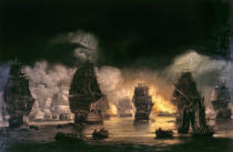 Thomas Luny - The Bombardment of Algiers