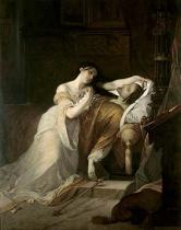 Louis Gallait - Joan the Mad at the deathbed of her husband Philip the Handsome