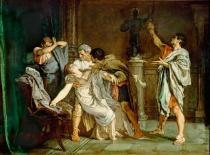 Eduardo Rosales-Martinez - The death of Lucretia. Canvas Cason del