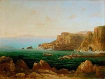 Thomas Ender - The Gulf of Sorrento,Italy,1874 Canvas,