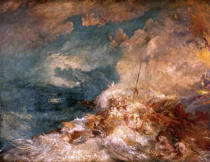 Joseph Mallord William Turner - Fire aboard ship