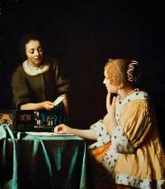 Jan Vermeer van Delft - Woman with Maid and Letter
