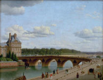 Christoffer-Wilhelm Eckersberg - Paris,vue of the Pont Royal,Quai Voltair