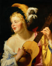 Gerrit van Honthorst - Guitar Player
