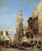 David Roberts - Cairo,Metwaley-Gate, 1843 Canvas,76 x 62