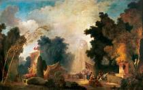 Jean-Honore Fragonard - Festival in a park, or festival in Saint-Cloud