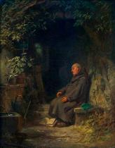 Carl Spitzweg - Old hermit sleeping