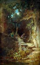 Carl Spitzweg - Hermit reading