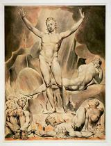 William Blake - Satan rousing the rebellious angels