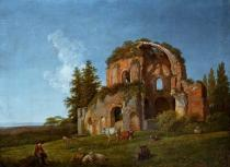 Johann Christian Klengel - Landscape with the ruins of the socalled Temple of Minerva Medica