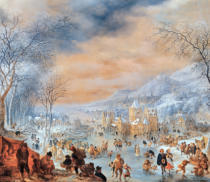 Jan Griffier - Winter landscape
