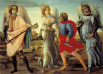 Fra Filippo Lippi - The three archangels and the young Tobias