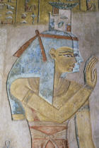 Ägyptische Malerei - Isis and Nephthys / Egyptian wall paint.