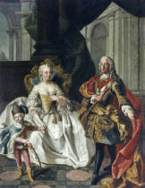 Maria Theresia - Maria Theresa and family / Painting