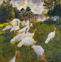 Claude Monet - The Turkeys. Château de Rottembourg, à Montgeron (Essonne)