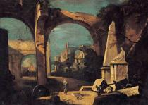 Francesco Guardi - Capriccio with ancient ruins