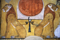 Ägyptische Malerei - Sun Disc of Re / Egyptian Mural