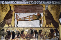 Wandmalerei - Tomb of Sennedjem / Funeral Customs