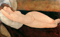Amedeo Modigliani - Liegender Akt 1919