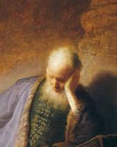 Harmensz van Rijn Rembrandt - Jeremiah Mourning the Destruction of Jerusalem