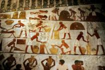 Wandmalerei - Labourers / Egyptian Wall Painting