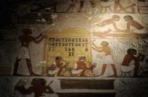 Wandmalerei - Carpenters / Egyptian wall painting