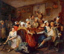 William Hogarth - The Orgy (The Rake at the Rose-Tavern