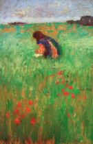 August Macke - Child in meadow