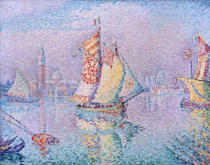 Paul Signac - Sailing boat in front of Venice