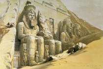 David Roberts - Abu Simbel (Egypt), Great Rock Temple, Exterior
